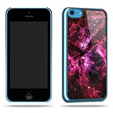 Space Purple Galaxy Stars Phone Case Shell for iPhone 5C