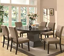 Hot Sale Myrtle Oval Contemporary Pedestal 7Pc Dining Set