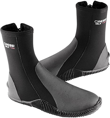 Cressi Boots With Soles Calzari in Neoprene con Suola, 7mm, Nero, M