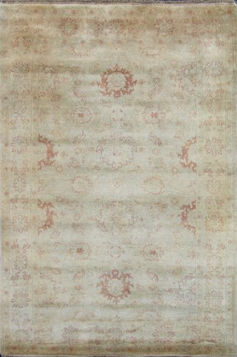 Overstock Sale Neutral 5x8 Hand Knotted Rug Wool Oushak RUG H476