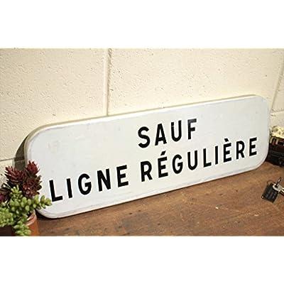 フランスアンティーク◇ブリキ製看板/英字標識サイン/壁掛け雑貨(a2400123-8)