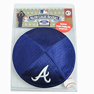 MLB Atlanta Braves Clip Pro Kippah Kipa Yamaka Jersey Mesh Licensed Yarmulke by Emblem Source
