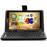 I Kall N4 (1GB+16GB) 7 Inch Android 6.0 (4G Volte+Wi-Fi) Calling Tablet With Keyboard_Black