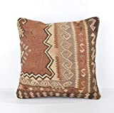 Wool Pillow, KP1007, Kilim Pillow, Decorative Pillows, Designer Pillows, Bohemian Decor, Bohemian Pillow, Accent Pillows, Throw Pillows