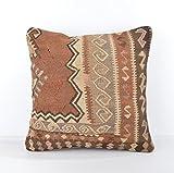 Wool Pillow, KP1007, Kilim Pillow, Decorative Pillows, Designer Pillows, Bohemian Decor, Bohemian Pillow, Accent Pillows, Throw Pillows