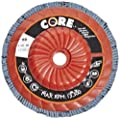 "CoreTemp 77480 Type 29 Regular Density Abrasive Flap Disc with Plastic Turbo Backing, Threaded Hub, Zirconium, 4-1/2"" Diameter, 5/8""-11 Arbor, 80 Grit  (Pack of 5)"
