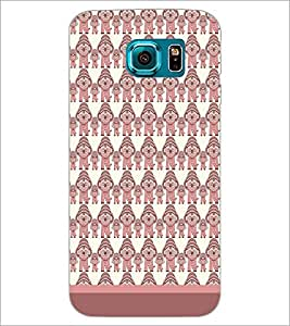 PrintDhaba Pattern D-1644 Back Case Cover for SAMSUNG GALAXY S6 EDGE (Multi-Coloured)