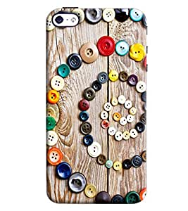 Omnam Pattern Made Of Buttons Printed Back Cover Case For Apple iPhone 4/4s