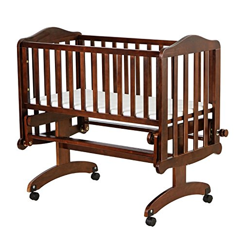 Dream On Me Lullaby Cradle Glider, Espresso