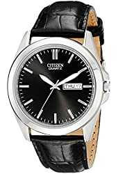 Citizen Men's BF0580-06E Stainless Steel Watch With Black Leather Band