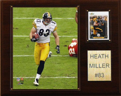 NFL Heath Miller Pittsburgh Steelers Player Plaque