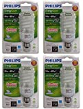 Philips (4 Pack) 408674 14W 60-watt Silicone Covered Outdoor Post Light CFL Light Bulb