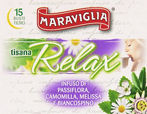 Maraviglia - Tisana Relax, Infuso Di Passiflora, Camomilla, Melissa E Biancospino - 15 Buste Filtro