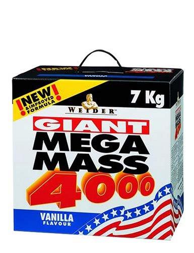 Weider Weight Gainer Mega Mass 4000 - 7000g, Vanilla Ice