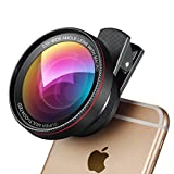 [Upgraded Version] Amir® 2 in 1 Professional HD Camera Lens Kit, 0.6X Super Wide Angle Lens + 15X Macro Lens, Universal Clip-On Cell Phone Lens for iPhone 6s /6/5, Samsung Galaxy & Most Smartphones