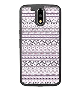 Hearts Pattern 2D Hard Polycarbonate Designer Back Case Cover for Motorola Moto G4 Plus :: Moto G4+