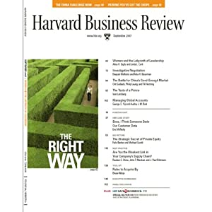 Harvard Business Review, September 2007 Periodical