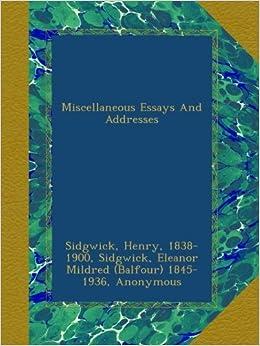 miscellaneous essay