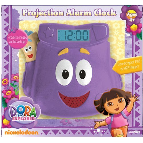 Dora the Explorer Projection Alarm Clock - 1