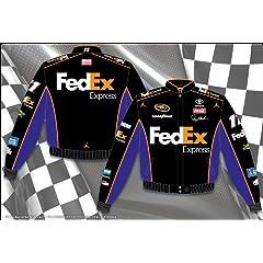 Buy 2014 Denny Hamlin FedEx Mens Black Twill NASCAR Jacket Large by J.H. Design