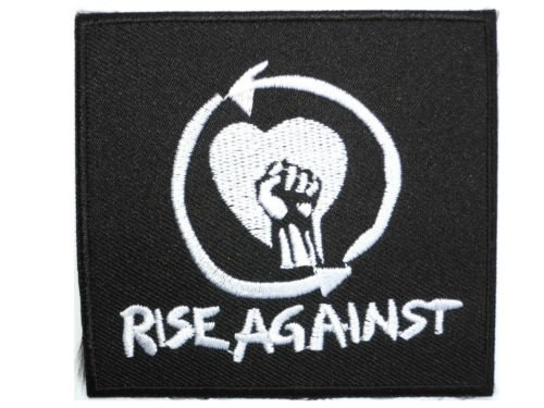 RISE AGAINST Logo Iron On Sew On Punk Rock Embroidered Patch 3