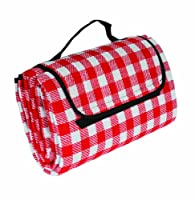Camco 42801 Red/White 51&quot; x 59&quot; Picnic Blanket from Camco