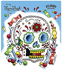 Sunny Buick - Candy Sugar Skull - Sticker / Decal