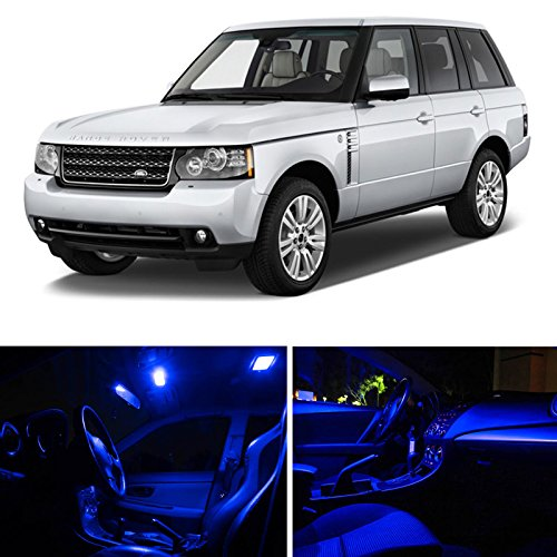 Ledpartsnow Land Rover Range Rover 2006-2013 Blue Premium Led Interior Lights Package Kit (21 Pieces)