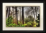 JAY GANESH FRAMES, DIGITALLY PRINTED CLASSIC, CREATIVE AND DECORATIVE PHOTO FRAMES/WALL HANGINGS FOR HOME DECOR, BEAUTIFUL LANDSCAPE WITH BLACK FRAME, SIZE: 13.75x19.75 inch