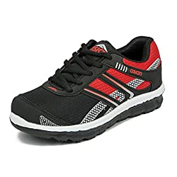 Asian shoes Zoom-1013 Black Red Mesh KIDS Shoes3UK/Indian