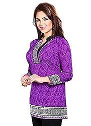 Charming Purple Colored Kurti(Only kurti)
