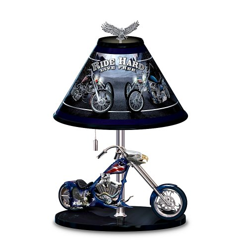 Patriotic American Eagle Chopper 15-Inch Tall Table Lamp: Freedom Rider by The Bradford Exchange