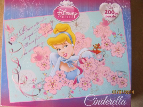 Disney Princess Cinderella Invitation To Tea Party 200 Piece Puzzle - 1