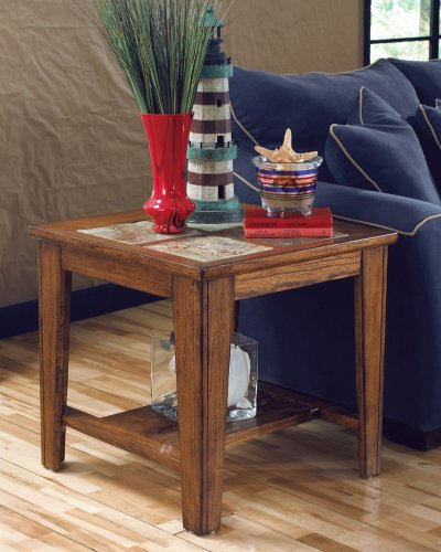 Cheap Toscana Square End Table with Natural Slate Tiles (T353-2)