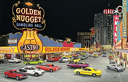 Cruise Night at Glitter Gultch 1000 Piece Jigsaw Puzzle by Sunsout Inc.