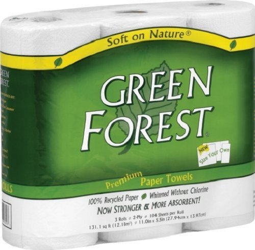 30 Rolls Per Case, 104 Sheets Per Roll, Select Your Own Sheet Size - Green Forest Size Your Own Towels, White, 3 Count (Pack Of 10)