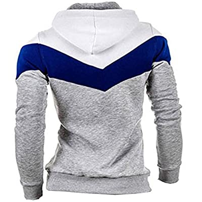 Men's Fashion Color Block Pullover Hoodies