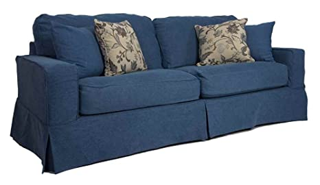 Americana Sofa - Slip Cover Set Only - Indigo Blue