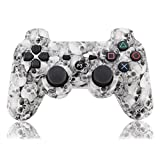 YANX PS3 Controller Remote Wireless Double Shock Gamepad for Playstation 3 (Skull)
