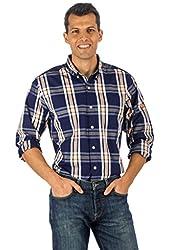Noble Mount Mens 100% Cotton Casual Shirt - Regular Fit