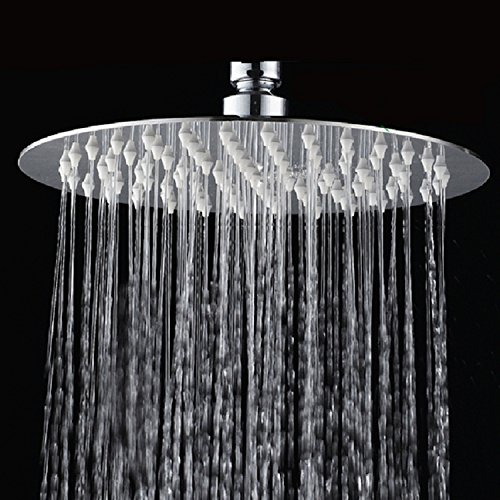 cb 39 s bundles 8 inch chrome rainfall high pressure shower head 2 5 gpm low flow rate fixed. Black Bedroom Furniture Sets. Home Design Ideas