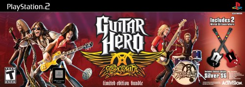 Guitar Hero Aerosmith Bundle with 2 Wired Guitars - PlayStation 2 (Guitar Hero Ps2 Wired Guitar compare prices)