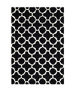 SAFAVIEH Alfombra Bessa Textured Area Rug, 121 X 182 Cm (Negro)
