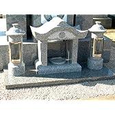 香炉セット 青御影石 磨き仕上げ 墓石