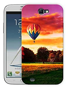 """Humor Gang Hot Air Balloon And Landscape Printed Designer Mobile Back Cover For """"Samsung Galaxy Note 2"""" (3D, Matte, Premium Quality Snap On Case)"""