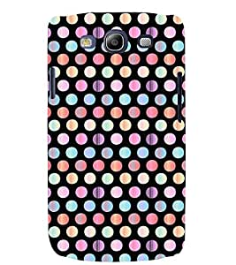 Printvisa Multicoloured Polka Dot Pattern Back Case Cover for Samsung Galaxy S3::Samsung Galaxy S3 i9300
