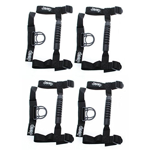 4 x Jeep Wrangler YJ, TJ, JK & Unlimited Roll Bar Grab Handles Grip Handle