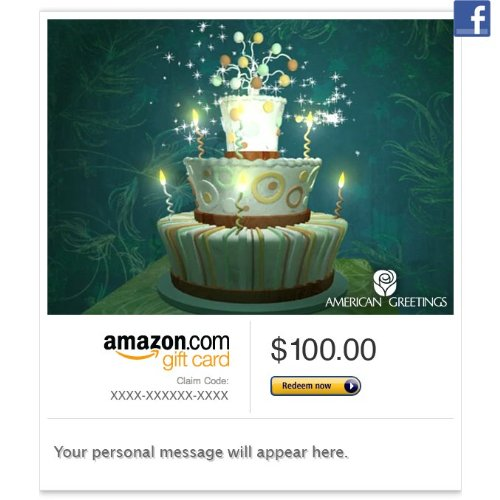 Amazon Gift Card – Facebook – A Bewitched Birthday (Animated)