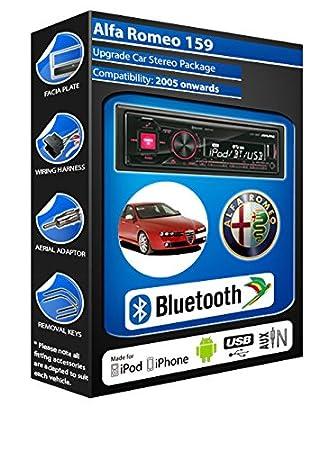 Alfa Romeo 159 autoradio Alpine UTE 72BT-kit mains libres Bluetooth pour autoradio stéréo