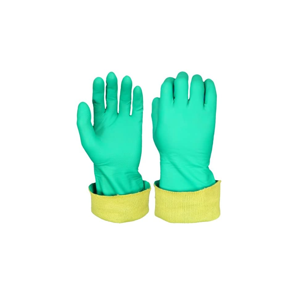 Global Glove 515KEV Unsupported Nitrile Glove with Kevlar Liner, Cut Resistant, 8 Medium (Case of 72)